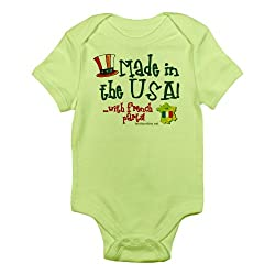 CafePress Made in the USA with French Parts Infant Creeper French Infan - 18-24M Kiwi