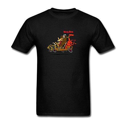 JuDian Wacky Races Cartoon T Shirt For Men