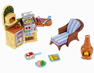 fisher price loving family outdoor bbq toys games. Black Bedroom Furniture Sets. Home Design Ideas