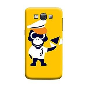 Desicase Samsung A3 Monkey Postman 3D Matte Finishing Printed Designer Hard Back Case Cover (Yellow)