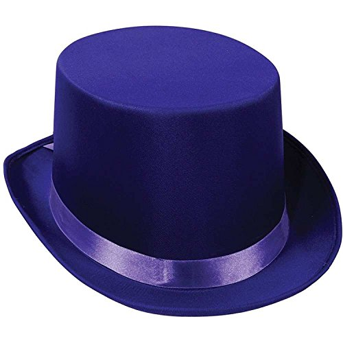 Satin Sleek Top Hat (purple) Party Accessory  (1 count) - 1