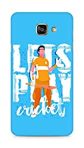 Amez designer printed 3d premium high quality back case cover for Samsung Galaxy A7 (2016 EDITION) (Lets Play Cricket)