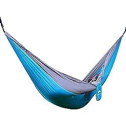 JESBAN-Amaca singola a paracadute, in tessuto Camping-Amaca da viaggio in Nylon