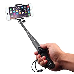 Voltaa #SELFY 2.1 Aluminium Selfie Stick with Bluetooth Shutter remote and Carry Bag Combo (Space Grey)