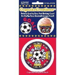 Cupcake Creations BKCUP-8980 Standard Cupcake Baking Cup, Soccer, 32-Pack (Soccer Baking Cups compare prices)