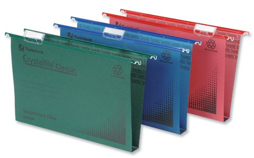 Rexel Crystalfile Classic Suspension File Manilla 30mm Foolscap Green Ref 78041 [Pack of 50]