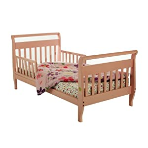 Dream On Me Classic Sleigh Toddler Bed &#8211; Pink