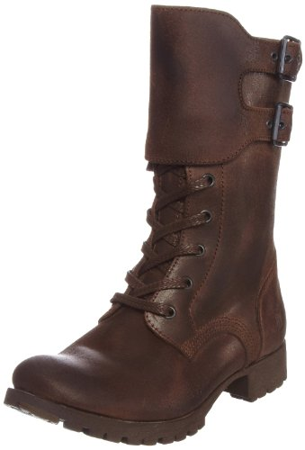 Fly London Women's Grass Dark Brown Biker Boots P141974001 5 UK