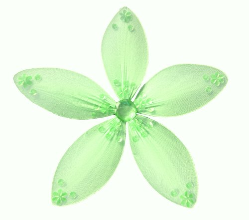 "Hanging Flower 8"" Medium Green Twinkle Nylon Daisy Flowers Decorations. Decorate For A Baby Nursery Bedroom, Girls Room Ceiling Wall Decor, Wedding Birthday Party, Bridal Baby Shower, Bathroom. Kids Childrens Daisies Decoration 3D Art Craft"