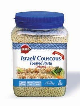 Baron's Kosher Original Traditional Israeli Couscous Toasted Pasta 21.16-ounce Jar