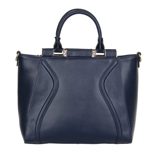 Fineplus Women'S 100% Leather Multifunctional Tote Messenger Bag Blue