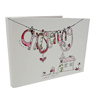 Tracey Russell Designer Pink Christening Guest Book