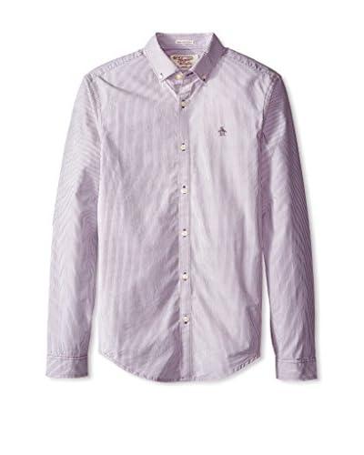 Original Penguin Men's Core Stripe Long Sleeve Shirt