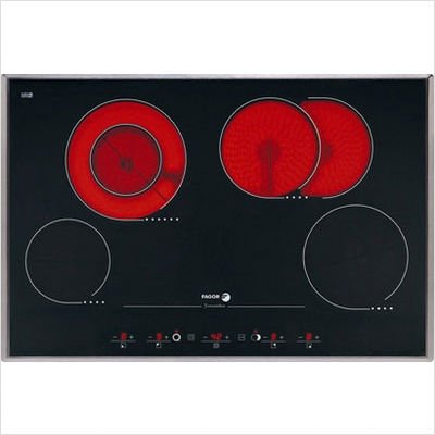 Fagor VFA78S 30-Inch Beveled Ceramic Glass Radiant Cooktop