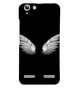 PrintVisa Angel Wings Design 3D Hard Polycarbonate Designer Back Case Cover for Lenovo Vibe K5 Plus