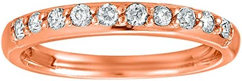 Silver Moissanite Simple Traditional Anniversary Wedding Band with Forever Brilliant Moissanite by C
