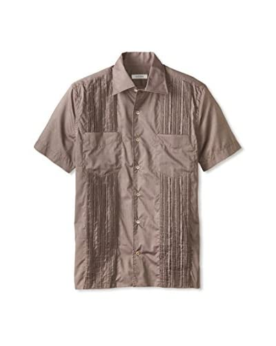Valentino Men's Pleated Front Shirt
