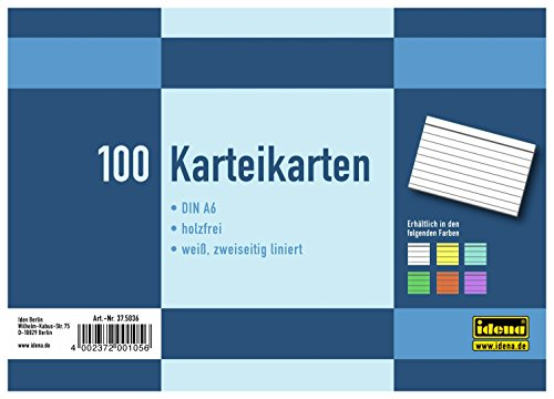 idena-375036-cartoncini-per-schedario-din-a6-100-pezzi-a-righe-colore-bianco