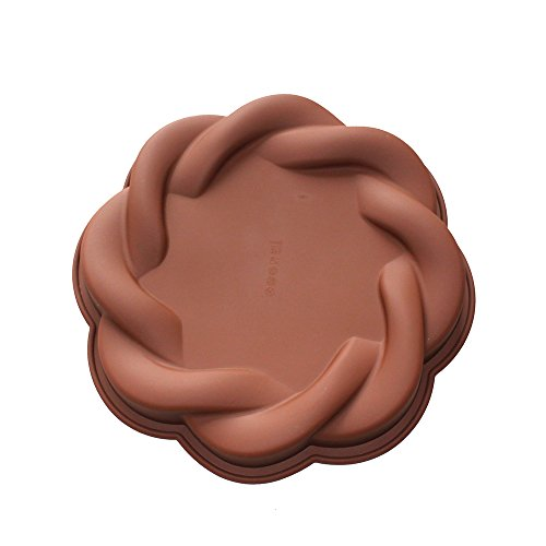 X-Haibei Giant Cookie Cake Shallow Pan 9inch Chocolate Jello Bread Baking Silicone Mold (Oreo Cookie Pan compare prices)