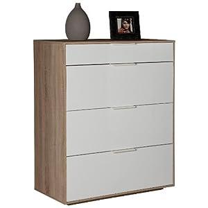 Cassettiera base mobile soggiorno legno rovere laccata for Cassettiere su amazon