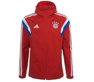 2014-15 Bayern Munich Adidas Travel Jacket (Red)