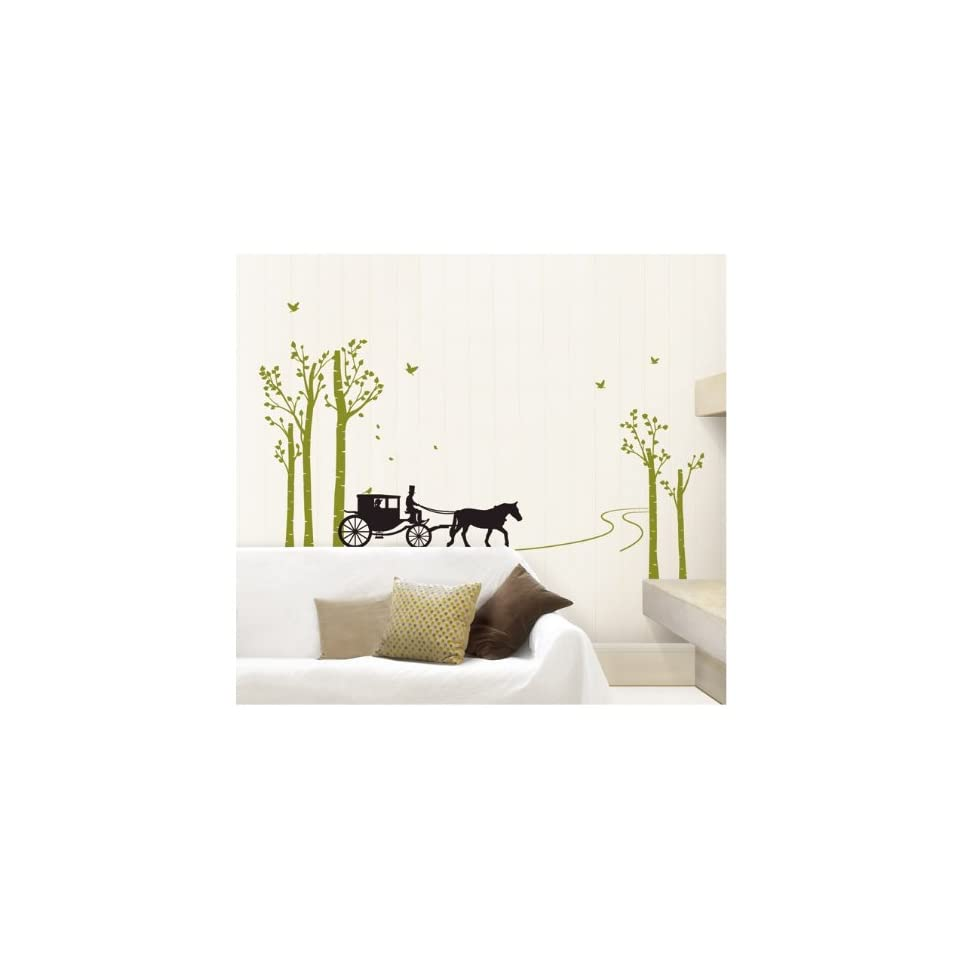 TREE ROAD WALL ART DECOR Mural Decal STICKER(KR0035)