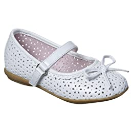 Product Image Toddler Girls' Circo® Dalila Chop Out Ballet Flat Shoes - White