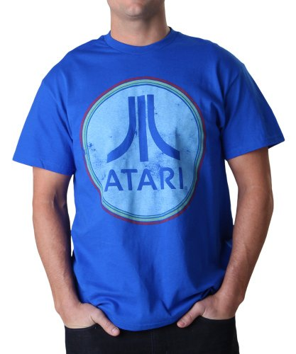 Men's Atari Circle Logo Royal Blue T-Shirt - S to XXL
