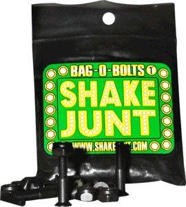 Shake Junt Allen Bag-O-Bolts Black Skateboard Hardware Set - 7 8 by Shake Junt