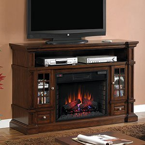 Belmont 60-inch Electric Fireplace Media Console - Caramel Oak - 28mm6240 photo B005T08VF2.jpg