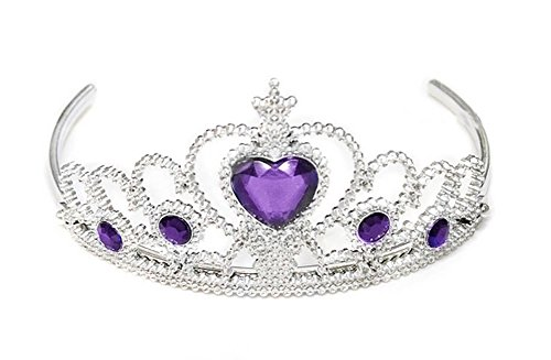 Fairy Princess Purple Tiara Crown Headband Accessories for Kids Costume Party