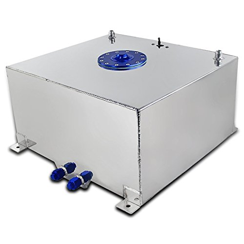 15 Gallon Chrome Polished Aluminum Racing Fuel Cell Gas Tank w/ Level Sender (Fuel Cell compare prices)