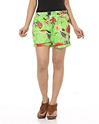 Abony P.Green Printed Women's Short