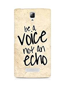 AMEZ be a voice not an echo Back Cover For Lenovo A2010