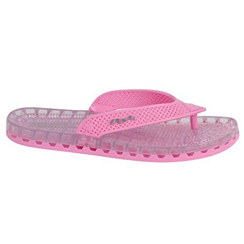 b97ba7325b702e Pink Barcelona Unisex Spa Shower Waterproof Flip Flops (Us 9 Sensi Size 10)