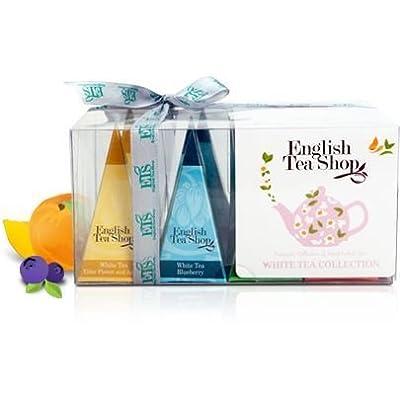 """English Tea Shop - Teegeschenk """"Weißer Tee Kollektion"""" mit Schleife, 12 Pyramiden-Beutel 4 verschiedenen Geschmacksrichtungen von English Tea Shop - Gewürze Shop"""