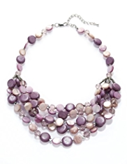 M&S Collection Round Shell Assorted Bead Multi-Strand Necklace