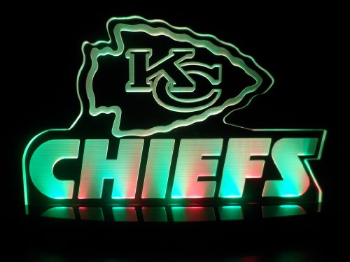 "Nfl Kansas City Chiefs Football Led Desk Lamp Night Light Beer Bar Bedroom Game Room Signs (3""X12""X6.5 Inches) front-658189"