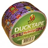 Duck Brand 282116 Retro Owls Printed Duct Tape, 1.88 Inch by 10 Yards, Single Roll