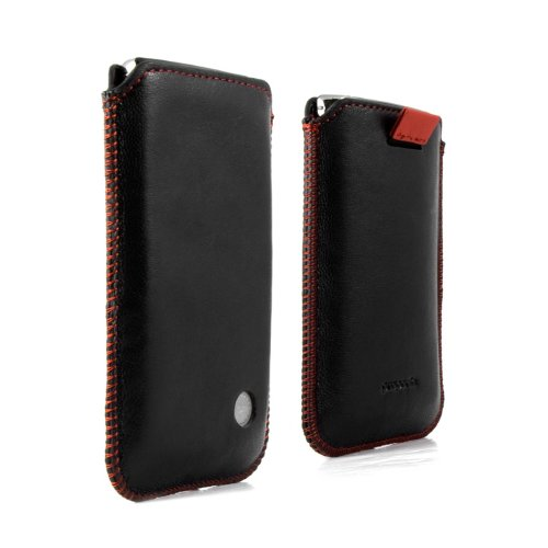 Proporta Aluminium Lined Leather Pouch Case Cover for iPhone 4S/4 with Lifetime Warranty