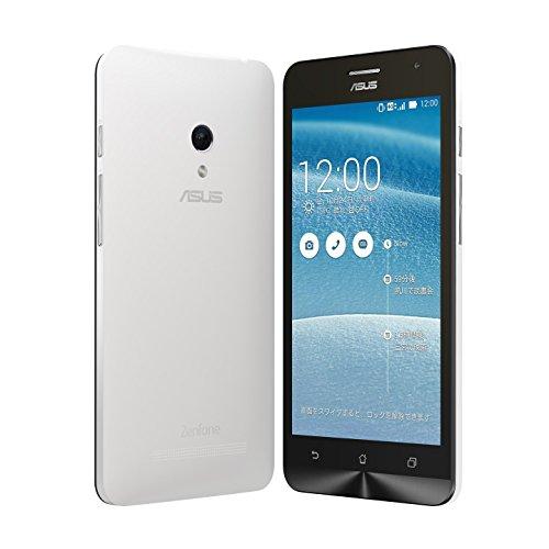 国内正規品ASUSTek ZenFone5 OCN モバイル ONE 音声対応SIMセット( SIMフリー / Android4.4.2 / 5型ワイド / microSIM / LTE) A500KL月額900円~SIMアダプタ+SIMカードケース付 (16GB, ホワイト)