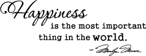 Happiness Is The Most Important Thing In The World Marilyn Monroe Wall Art Wall Sayings Vinly Stickers Decals front-895961