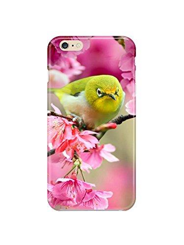 i6ps 0724 Lovely Japanese White Eye Bird Cover lucido per iphone 6 Plus (13,97 cm)