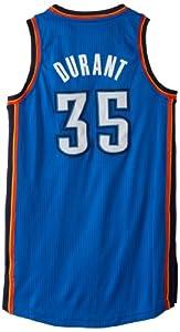 NBA Oklahoma City Thunder Authentic Kevin Durant #35, Large