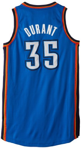 NBA Oklahoma City Thunder Authentic Kevin Durant #35, Blue, Medium