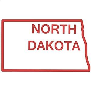 Amazon.com - North Dakota State Outline Decal Sticker (red