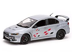 Mitsubishi Lancer Evolution X 10 Ralliart Metallic Silver 1/43