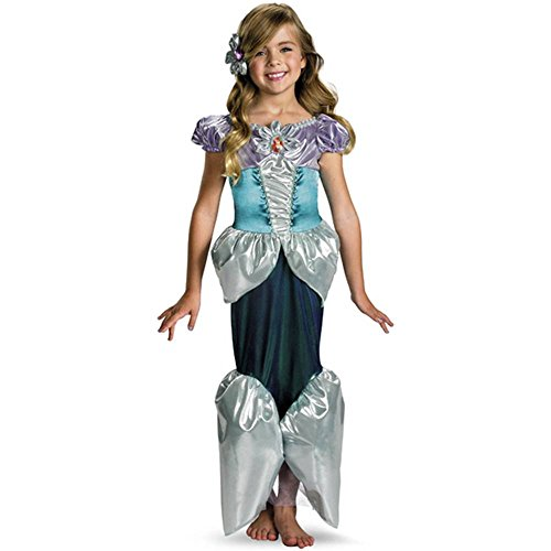 Deluxe Shimmer Disney Ariel Mermaid Toddler Costume - 3T-4T
