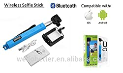 SELFIE STICK WITH INBUILT BLUETOOTH AND ZOOM + FREE SHIPPING + FREE GUIDE OF SELFIE DESTINATIONS - FASTEST SELLING AND MOST POPULAR SELFIE STICK WITH BEST QUALITY (PROMISED)-COMPATIBLE WITH IOS 4.0 AND ANDROID 3.0 AND ABOVE