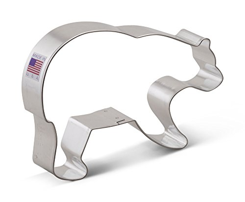 Ann Clark Grizzly Bear Cookie Cutter - 5.25 Inches - Tin Plated Steel